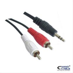 CABLE AUDIO ESTEREO 3.5/M-2RCA/M 0.3 M