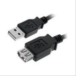 CABLE USB 2.0 PROLONGACION A/M-A/H 3M NEGRO NANOCABLE