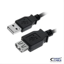 CABLE PROLONGACION USB 2.0 A/M-A/H 1.8M NEGRO