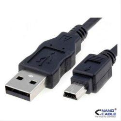 CABLE USB 2.0 A/M-MINI USB 5PIN/M 4.5M NEGRO NANOCABLE