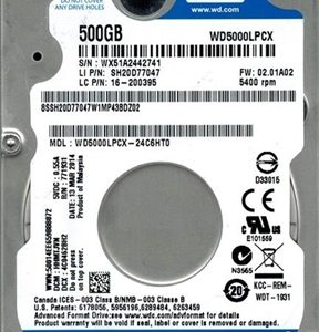 DISCO DURO WD BLUE 500GB SATA III 5400RPM 16·