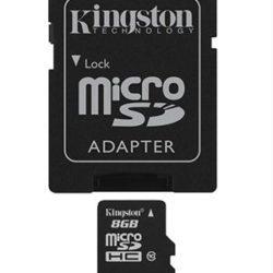 MEMORIA MICRO SD 8GB CLASE 10 KINGSTON