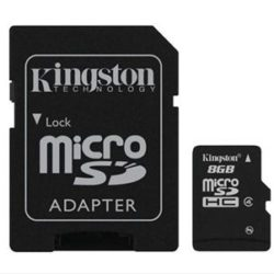 MEMORIA MICRO SD 8GB CLASE 4 KINGSTON