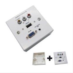 PLACA DE PARED VGA/JACK3.5/USB2.03XRCA BLANC