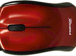 RATON USB PRIMUX M305 ROJO 3D RETRACTABLE