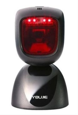 LECTOR CODIGO BARRAS YOUJIE HF600 1D/2D USB BLANCA