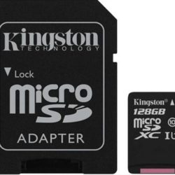 MEMORIA MICRO SD 128GB KINGSTON  XC CL 10+ADAPTADOR