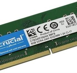 MODULO SODIMM  DDR4 8GB 2400MHZ CRUCIAL SINGLE