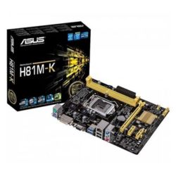 PLACA i3/i5/i7 ASUS H81M-K S.1150 USB3backp DDR3