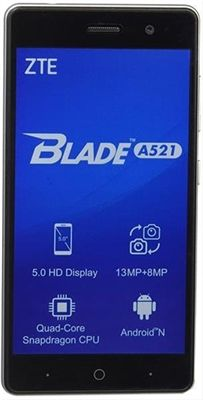 ZTE BLADE A521  5IN            QUAD HD 1GB 8·