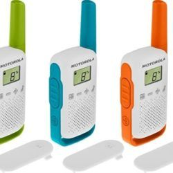 WALKIE TALKIES MOTOROLA T42 TRIPLE PACK 4KM 16 CANALES