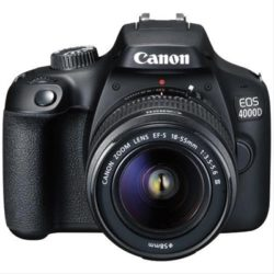CAMARA REFLEX CANON EOS 4000D +EF-S 18-55MM + BOLSA + SD 16GB