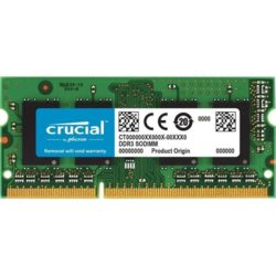 CRUCIAL 4GB DDR3 1066 MT/S PC3-8500 CL7 SODI·