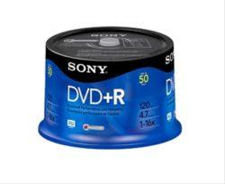 DVD+R  SONY 16X SPINDLE TARRINA DE 50 UNIDADE