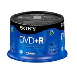 DVD+R  SONY 16X SPINDLE TARRINA DE 50 UNIDADE