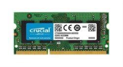 MODULO SODIMM DDR3L 4GB 1600MHz CRUCIAL PC3-12800 CL11