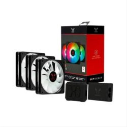 VENTILADOR 120X120 RIOTORO QUIET STORM RGB PACK 3 UNI
