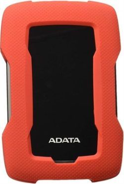 "HD EXTERNO 2.5"" 1TB ADATA HD330 ROJO USB3.2 GEN1 CARCASA SILICONA"
