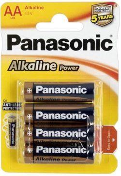PILA PANASONIC LR06 AA ALKALINE 4 UNIDADES